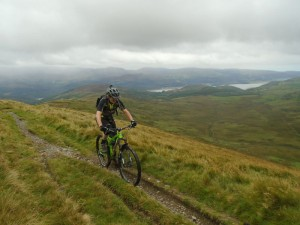 Brian starting the Braich traverse with stunning views across the Mawddach Estuary.