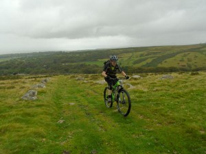 Brian winching his way up the grassy drag of the Bwlch y Rhiwgyr climb about 5 mins away from a drenching. Thankfully the 5 min downpour was the only one we were subjected to all ride.