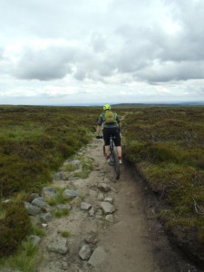 Sean starting the Cut Gate descent to Langsett.