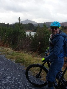 Martyn with a view of Moel Siabod on the Gwydir Mawr trail.