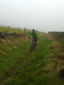 Dan on the Todmorden Centenary Way.