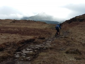 Martin and a shy Moel Siabod on the way back to Capel Curig.