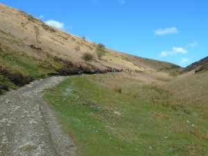 Climbing Motts Road from Carding Mill Valley.