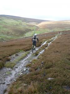 Brian on the Cringley Hill descent.