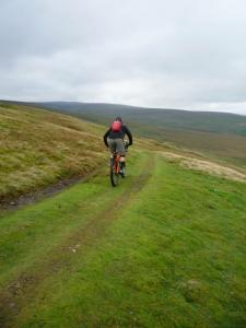 Karl on the Whaw Edge descent into Arkengarthdale.