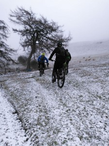 Chris, Matty and Brian on the Gyrn Moelfre climb.