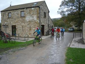 Brian, Karl, Chris and Graham starting from the Dales Bike Centre in Swaledale.