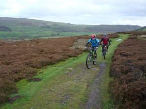 Brian and Karl at the top of the climb from Grinton.