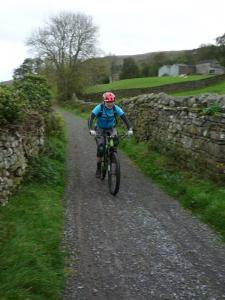 Brian on the Low Lane track in Swaledale.
