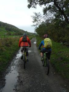 Chris and Graham following Dubbing Garth Lane through Swaledale.
