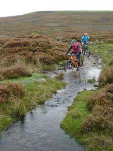 Karl and Brian at the Harker Mires stream crossing.