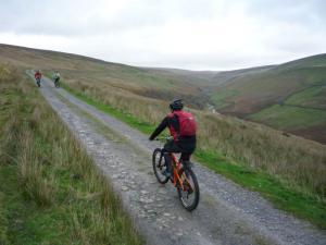 Karl on the Gunnerside Gill climb.