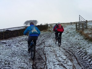 Stating the Snake Path climb from Hayfield.