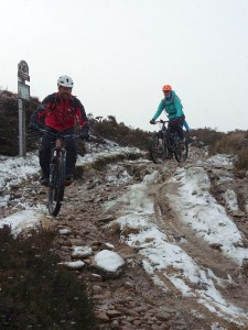 Stuart and Catherine descending into Hollingworth Clough.