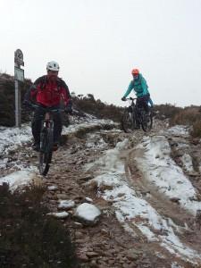 Stuart and Catherine descending into Hollingworth Clough.