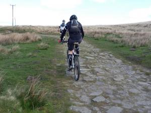 Laurence and Paul on the rocky Heptonstall Moor climb.