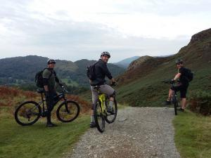 Martin, Chris and Steve at the top of the Ivy Crag descent.