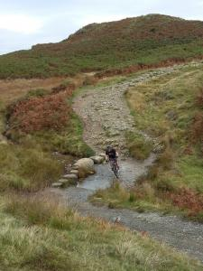 Steve at the stream crossing before Ivy Crag.