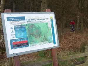 Mike completing the Healey Nab Red Route.
