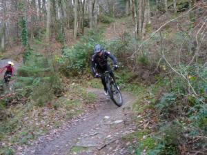 Tony on the Mocha singletrack of the Gwydir Mawr trail.