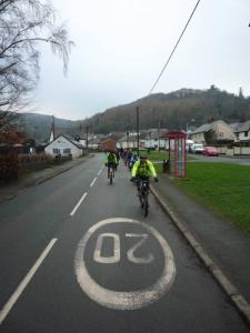 Riding out of Glyn Ceiriog .
