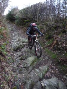 Wayne on the Plas onn descent in the Ceiriog Valley.