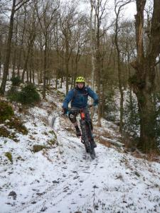Mark on the first climb of The North Face Trail in Grizedale Forest.