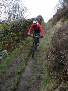 Mark on the Golf Course singletrack above Todmorden.