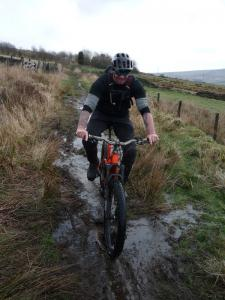 Martin on the Todmorden Centenary Way.
