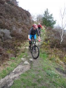 Nick and Mark at the Tunnel descent hairpins into Calderdale.