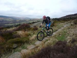 Nick on the Whirlaw pack horse trail above Calderdale.