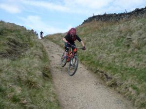 Graham descending from Edale Cross.