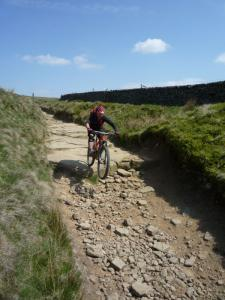 Graham on the drops of the Rushup Edge descent.