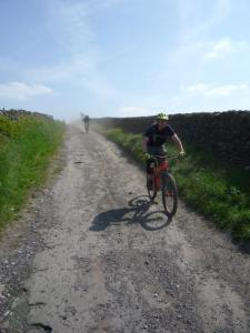 Mark on the dusty lane descent from Mount Famine.