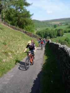 On the road climb from Bowden Bridge quarry.