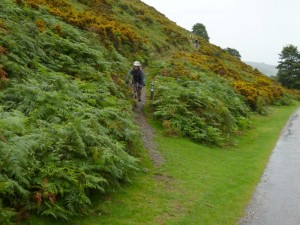 Anne decending into Carding Mill Valley.