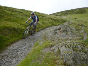 John on the Little Stretton descent.
