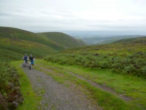 Pete and John at the top of the Carding Mill Valley climb.