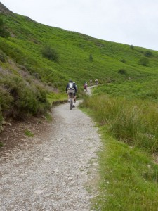 The steep and long Carding Mill Valley climb.