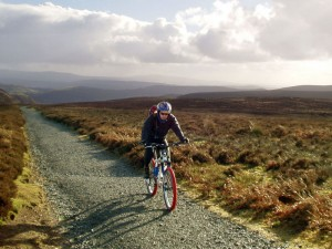 Paul at the top of the Cardingmill Valley, Motts Road climb.