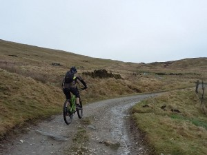 Brian with the top in sight on the Wayfarer climb.