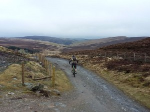 Brian starting the Wayfarer descent in the Berwyn mountains.