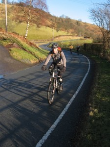 Ken on the Ceiriog Valley road.