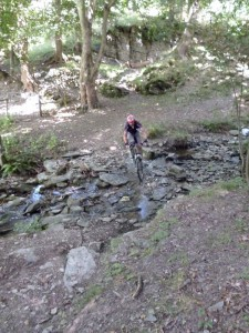 Mark at the Tynddol stream crossing.