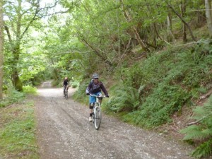Pete and Mark climbing from Pontfdog in the Ceiriog Valley.