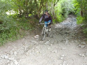 Pete at the bottom of the Badi descent.