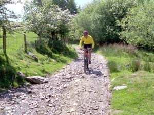 Colin on the fast and loose Tyn y pistyll descent.