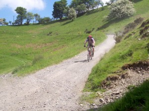 Gavin on the Ty-newydd farm descent.