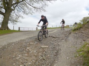 Nigel and Mike on the Foel Wylfa descent.