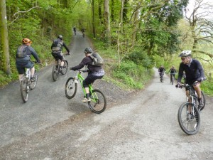 At the start of the long Coed Pen-craig climb.